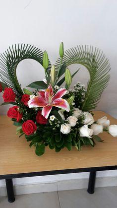 Funeral Floral Arrangements, Tropical Flower Arrangements, Creative Flower Arrangements, Church Flower Arrangements, Beautiful Flower Arrangements, Unique Flowers, Tropical Flowers, Beautiful Flowers, Altar Flowers