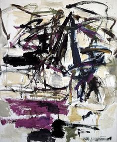 Joan Mitchell - Study in Purple Work Date 1959 Medium oil on canvas Size h: 64 x w: 77.5 in /