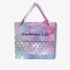 Inspirational Quote On A Ceramic Plaque by IllusionCreations