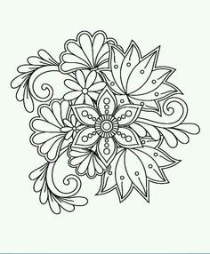 """Lotus Flower Mandala Coloring Pages 29 Cards In the Collection """"Рисунки дРя точечной росписи"""" Of Flower Coloring Pages, Mandala Coloring Pages, Coloring Book Pages, Printable Coloring Pages, Cross Stitch Embroidery, Embroidery Patterns, Hand Embroidery, Mandala Drawing, Mandala Art"""