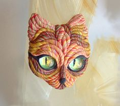 Cat Brooch OOAK | by JanePriserArts