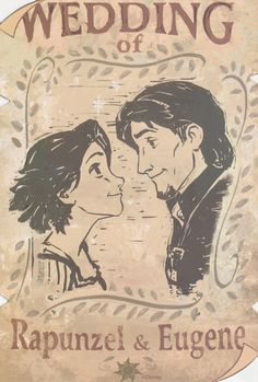 Who drew this? They got my nose right! Our wedding poster