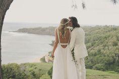 Custom Mara Hoffman wedding dress