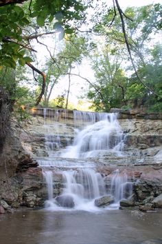 Chase Lake Falls, Kansas