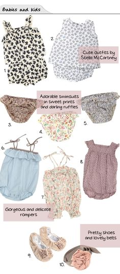 Precious rompers and bloomers
