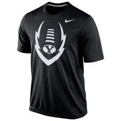 b2a982a0ebf55 BYU Cougars 2014 Football Icon Legend Dri-Fit Performance T-Shirt – Black