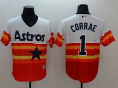 e03650168 Astros  1 Carlos Correa White Orange Flexbase Authentic Collection  Cooperstown Stitched MLB Jersey Carlos Correa