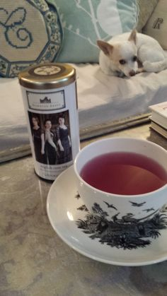 Downton Abbey tea with a friend!