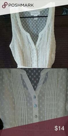 Motherhood Maternity tank Motherhood Maternity sheer polka for blouse with marching cami. Size small. Worn once. Please note I didn't wear the tie, and it is missing. Price reflects. Great condition no signs of wear. Bundle and save with other Maternity items! 👶🏻 Motherhood Maternity Tops