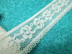 1 yard of 1 1/2 White Chantilly Lace trim for by MarlenesAttic, $1.20