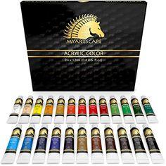 Acrylic Paint Set, 24 x 12ml, Art Paints, Artist Paint Set Paint kit, MyArtscape #MyArtscape