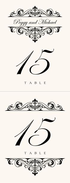 Free Table Number Templates 4X6 | table in style with our ...