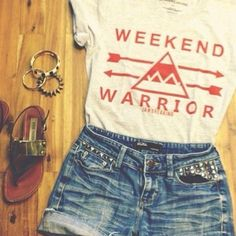 Weekend warrior tee