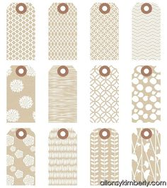 Free Printable labels  Brown Patterns