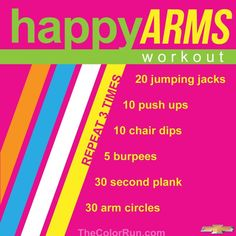 Happy Arms Workout  #TheColorRun #Happiest5K