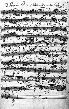 Violin Sonata in Johann Sebastian Bach's Handwriting. (Bach - my one and only idol. Sebastian Bach, Sound Of Music, Music Is Life, My Music, Hard Music, Music Class, Johann Bach, Lessons For Kids, Classical Music