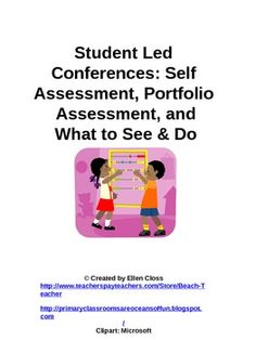Student Led Conference Packet for the Primary Grades FREE