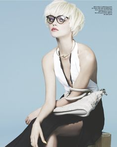 Love this haircut! And the glasses are so euro chic. Love it!