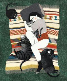 Collage Techniques, Sleepy Cat, Freeform Crochet, Kittens Cutest, Ragdoll Kittens, Tabby Cats, Funny Kittens, Bengal Cats, Kitty Cats