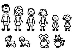 stick figure clipart clip art stick people family and pets clipart rh pinterest com stick figure family clipart stick family clip art for picture
