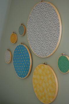 Embroidery hoop art for kid's room ideas  #decor #kids