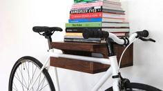 Designing for Bikes Stored on Walls | Man Made DIY | Crafts for Men | Keywords: bike, decor, gear, organization