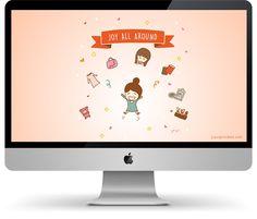 Konmari Joy All Around Desktop wallpaper for FREE!  Juju Sprinkles