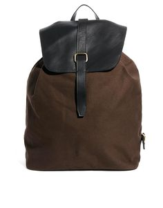 ASOS Backpack with Leather Trims