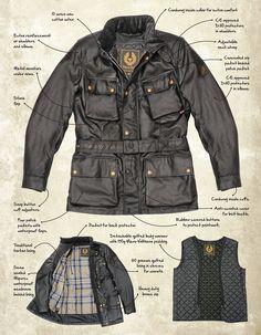 Men Motorcycle - Belstaff Trialmaster Motorcycle wax cotton jacket black