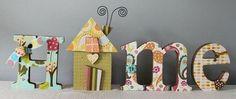 Letter Me This - HOME 3-d letter decorations