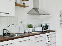 Not Your Basic Backsplash: A Lovely, Low-Maintenance Alternative to Tile