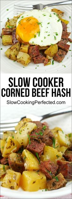 Slow Cooker Corned Beef Hash - Slow Cooker - Ideas of Slow Cooker - Deliciously Easy Slow Cooker Corned Beef Hash Corned Beef Brisket, Slow Cooker Corned Beef, Crock Pot Slow Cooker, Crock Pots, Slow Cooking, Slow Cooked Meals, Budget Cooking, Italian Cooking, Easy Cooking