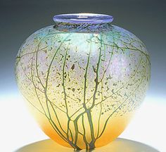 Sunrise Landscape Vase - Medium Pueblo: Peet Robison: Art Glass Vase - The Artful Home