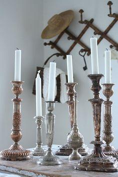 srebrny świecznik collection poprzez to, co lubię - voguehome.org