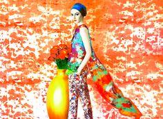 Floral Orange Painting-Like Image shot by Erik Madigan Heck