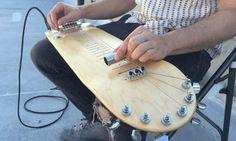 Lap Skate Guitar: Skate viraum instrumento musical