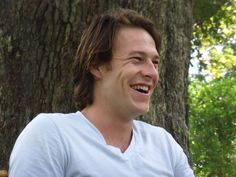 """Luke Bracey discussing meat pies on the set of """"The Best of Me,"""" the movie based on Nicholas Sparks' bestselling novel. Check out more pictures and interviews on MidlifeAtTheOasis.com. #TheBestOfMe"""