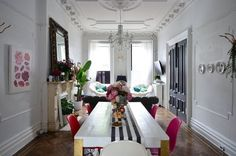 Eclectic dramatic Brooklyn brownstone