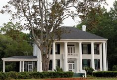Cuthbert, GA  (Puttin' on the G.R.I.T.S.) Old Southern Homes, Southern Living, Southern Style, Southern Charm, Porte Cochere, Antebellum Homes, Southern Plantations, Plantation Homes, Barbie Dream House