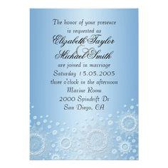 Luxury White Snowflakes Wedding Invite