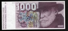 Switzerland currency 1000 Swiss Francs banknotes images