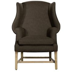 Curations Limited New Age Brown Linen Chair 7841.0003.A008