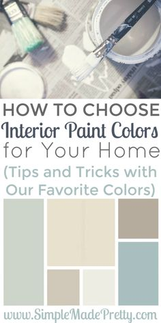 Choosing interior paint colors for your home can be overwhelming but with these…