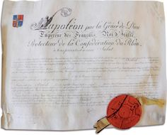 Lettres- patentes du baron Dentzel