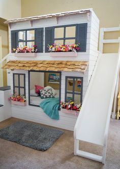 The Ultimate Custom Dollhouse Loft Bunk or by DangerfieldWoodcraft