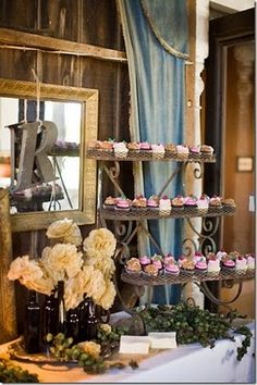 The French Flea: Rustic Vintage Shabby Chic Wedding Reception Ideas
