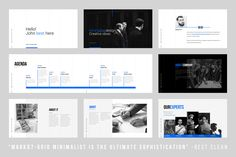 Grids-Minimal Keynote Template by dublin_design on @creativemarket