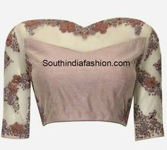 Pretty sequin saree blouse