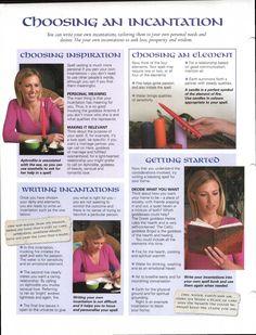 Enhancing Mind Body Spirit 22 Casting Spells Card 15 (back) Choosing and Incantation