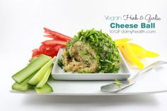 Vegan Herb & Garlic Cheese Ball - This recipe is gluten free, vegan, raw, no-bake, dairy free, grain free, soy free, low carb and the perfect vegan cheese ball.